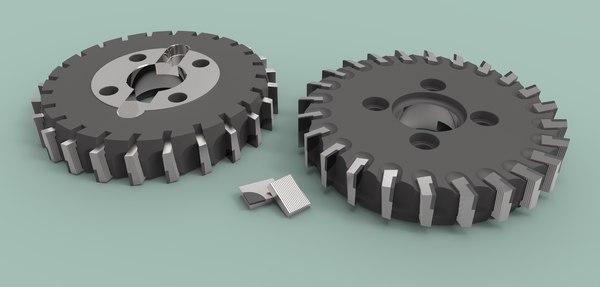 3D cutter face milling model