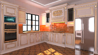 3D kitchen classic furniture novxani