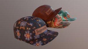 3D games hats supreme tropical