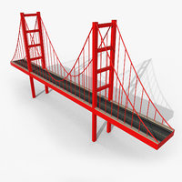 3D model cartoony bridge