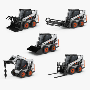 3D bobcat s590 compact wheel loader model
