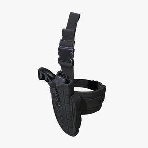 3D holster pistol