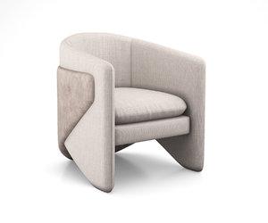 3D model thea chair west elm