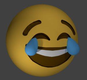 3D emoji joy model