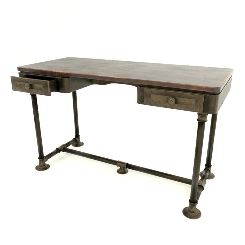 industrial desk 3D model