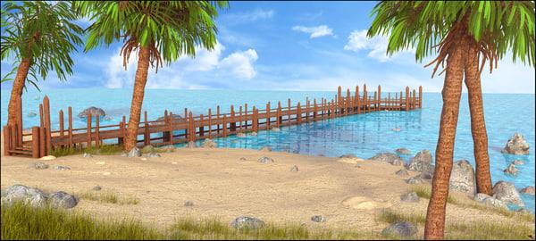 landscape dock 3D