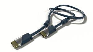 hdmi cable 3D model
