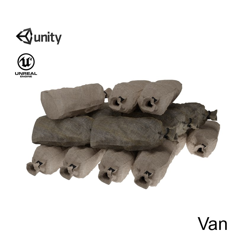 3D sandbag sand