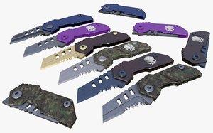 raptor knife 3D