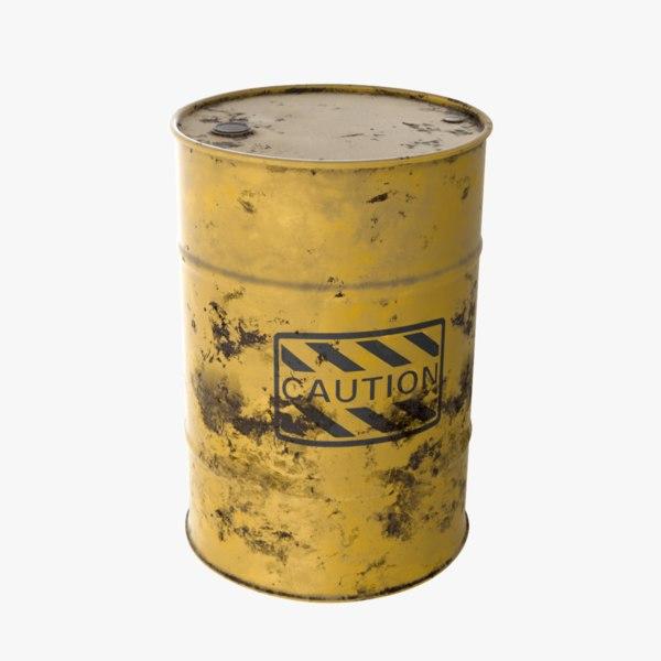 3D yellow barrel