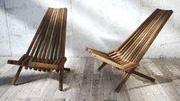 wooden armchair 3D