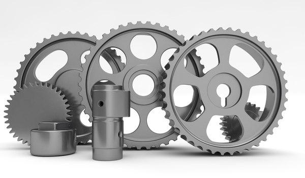 3D model gears set