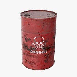 red barrel danger 3D model