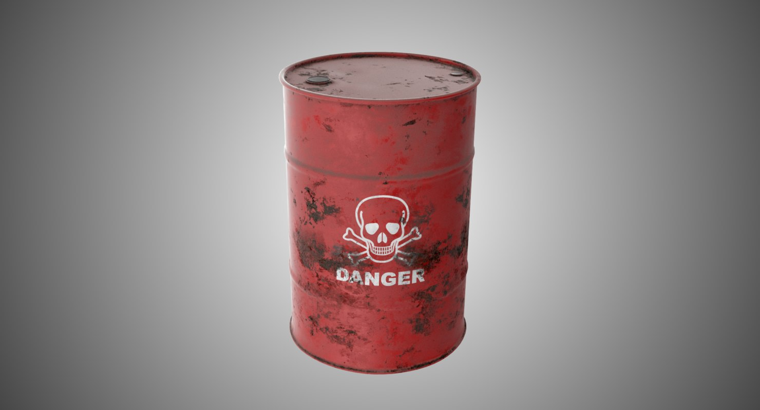 red barrel danger 3D model