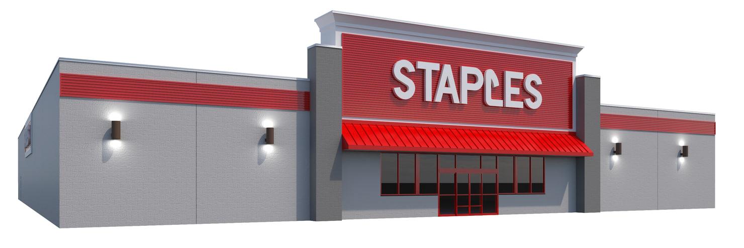 3D model retail staples building