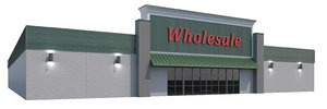 retail store building grocery 3D model