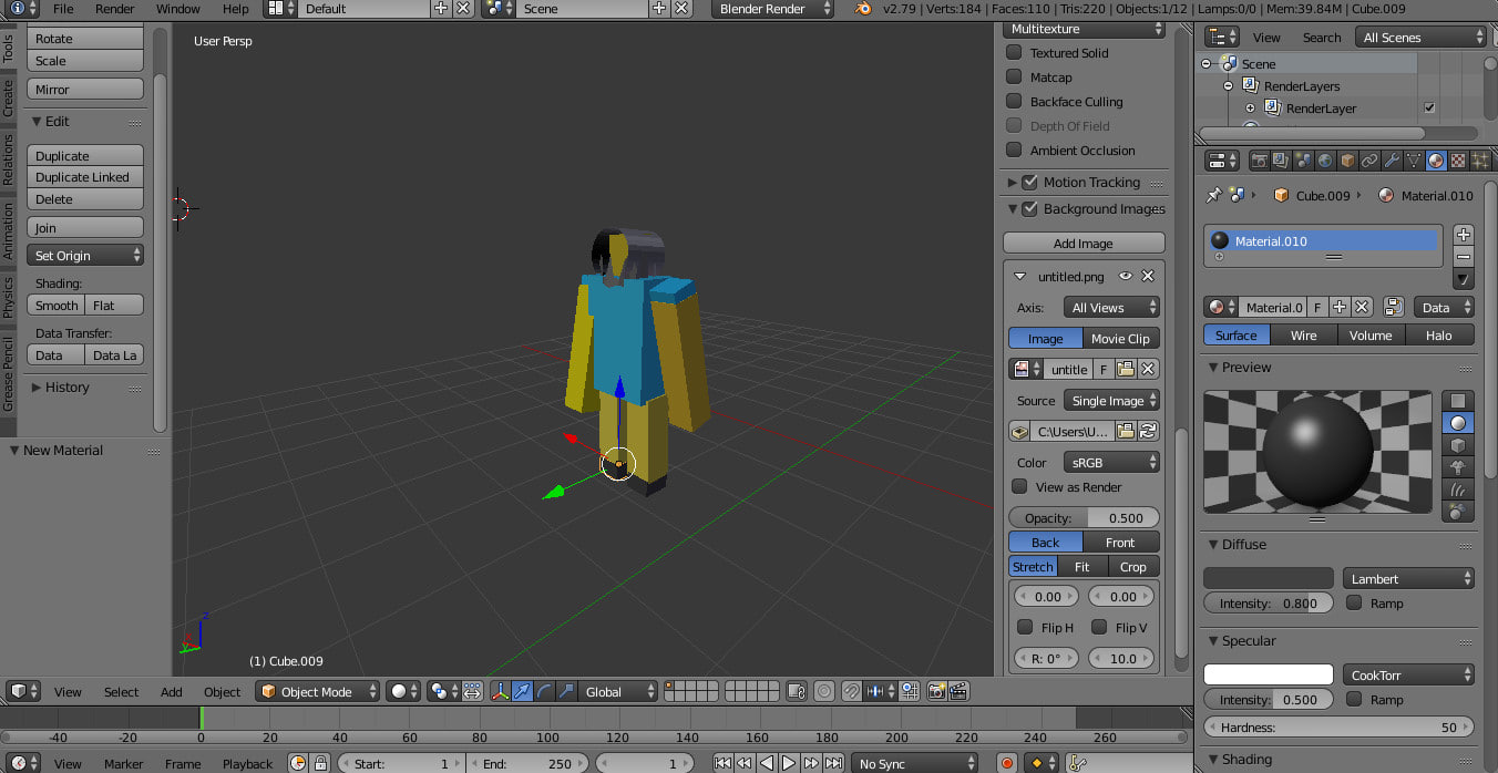 3D minecraft character