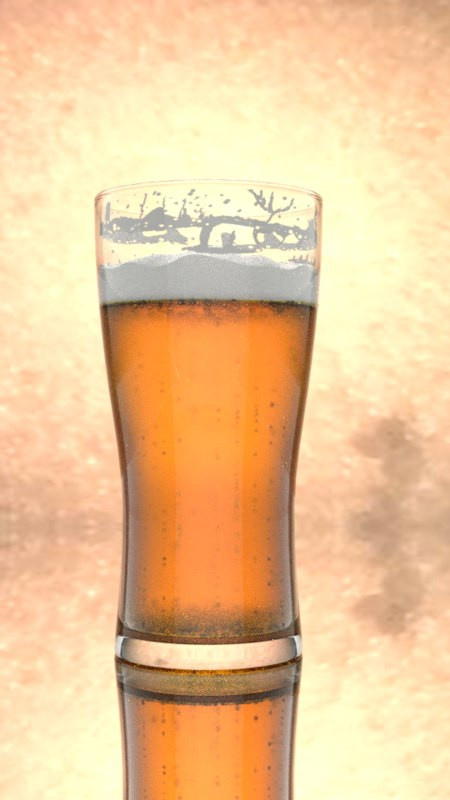3D beer realistic