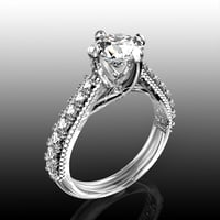 jewelry engagement bead ring 3D