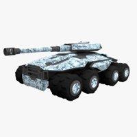 tank sci fi 3D