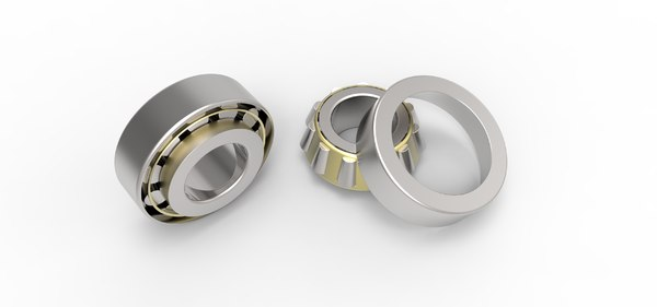 3D model angular contact roller bearing