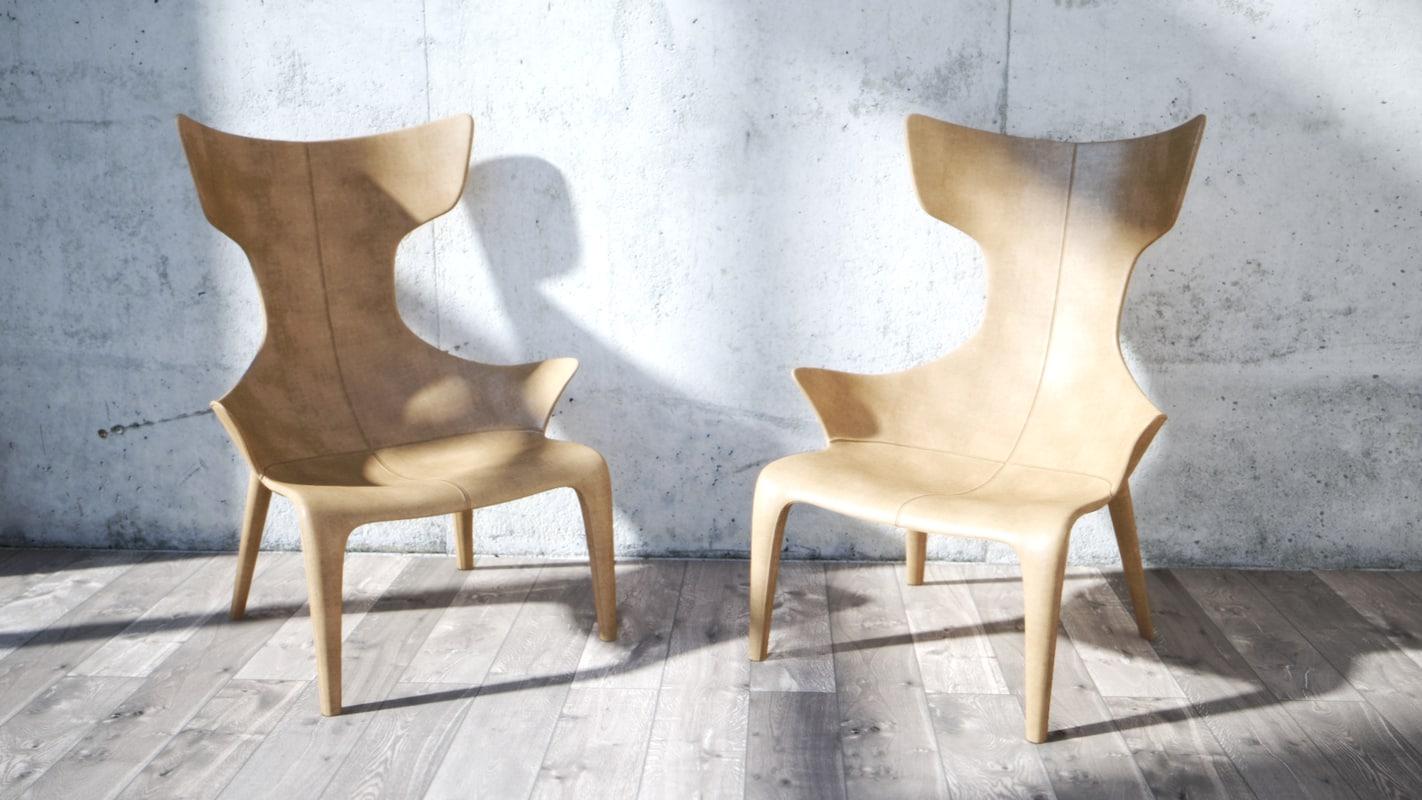 armchair lou read 3D model