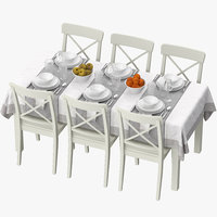 3D model ikea table dining set