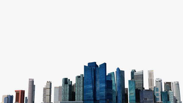 3D singapore central skyscrappers