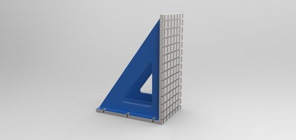 3D model corner stand