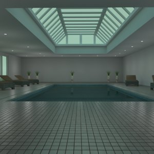 3D indoor pool