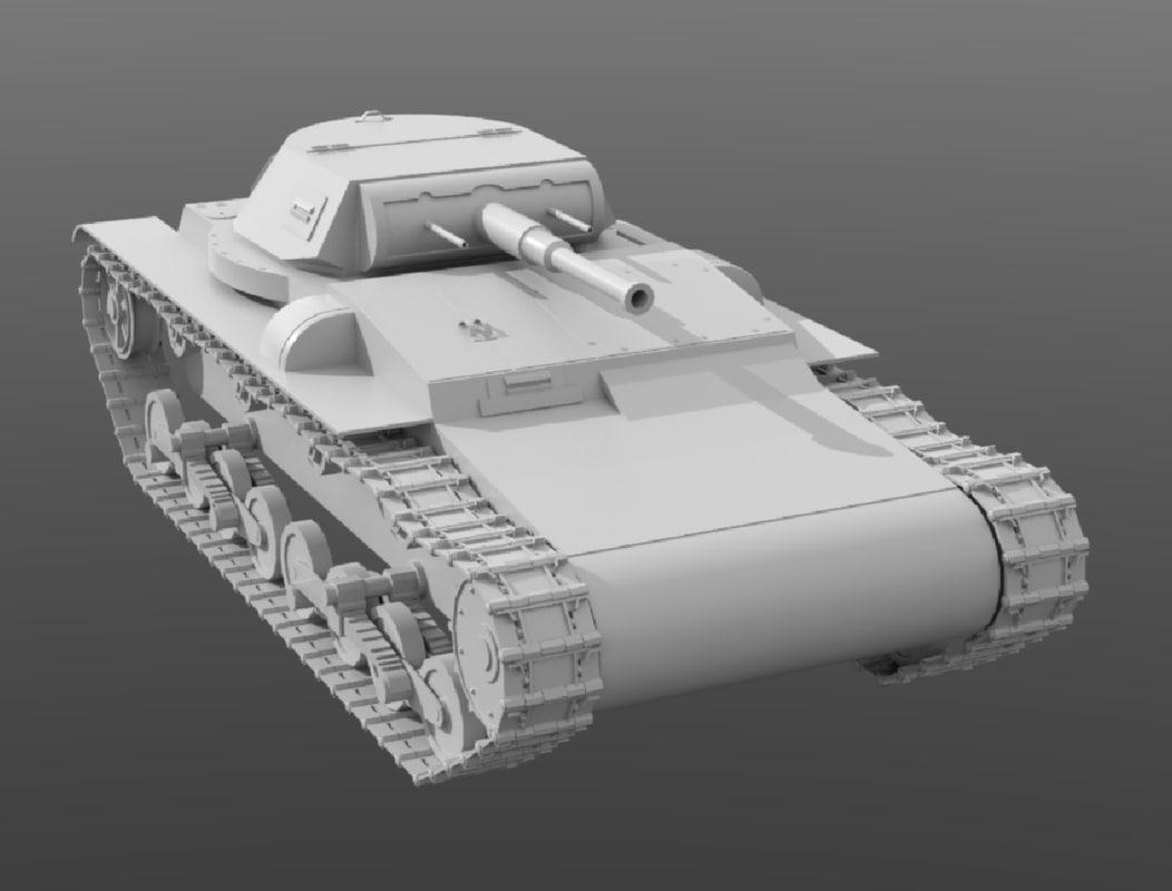 3D carro combate model