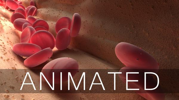 blood cells animation 3D model