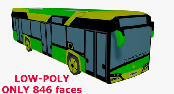 3D model low-poly solaris urbino