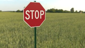 red stop sign 3D model