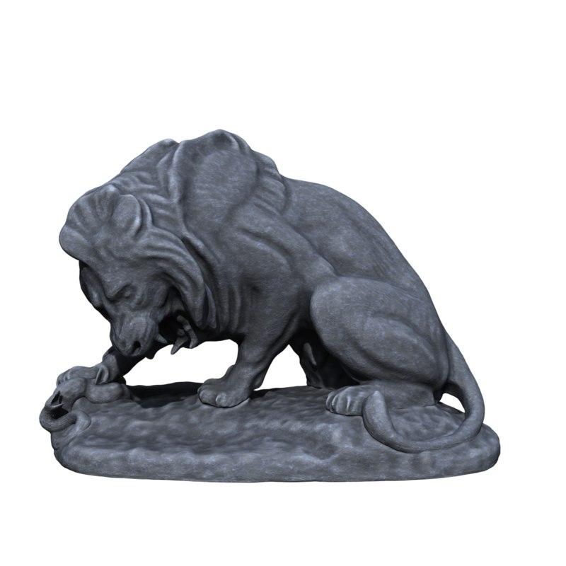 3D lion serpant