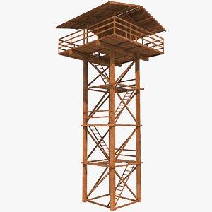 3D watch tower model