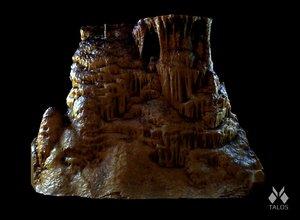 scan stalactite pillar 3D model