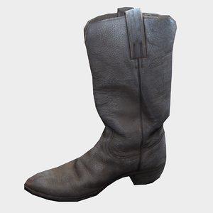 old cowboy boot 3D model