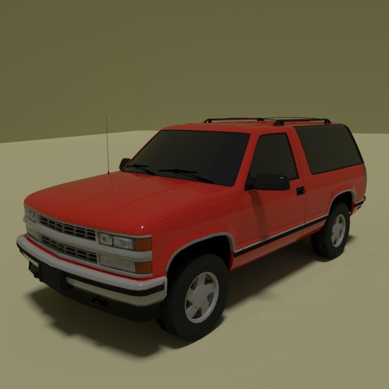 3D model 3 door suv