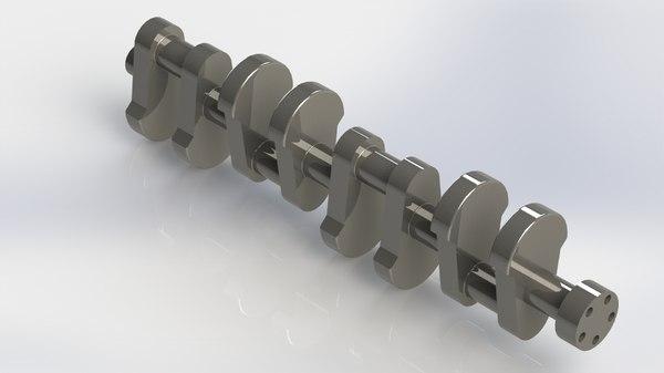 crankshaft v8 engine - model