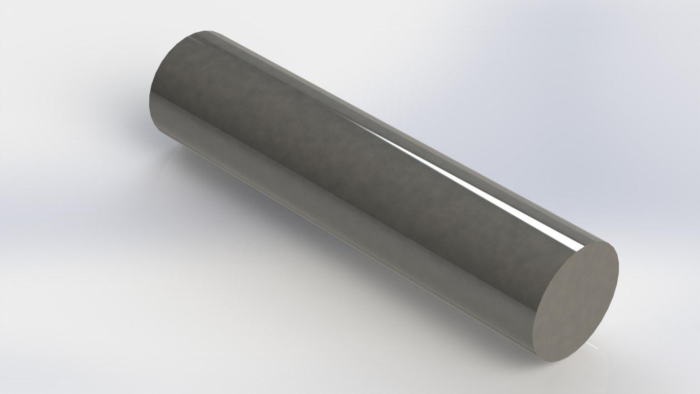 gudgeon pin v8 engine 3D model