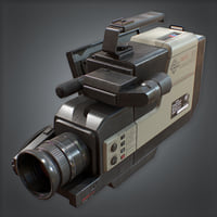 Camcorder Video Recorder (80's) - PBR Game Ready