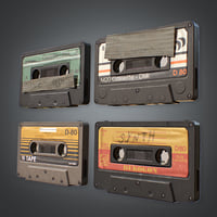Cassette Tapes (80's) - PBR Game Ready