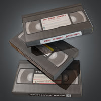 VHS Tapes Set 1 (80's) - PBR Game Ready
