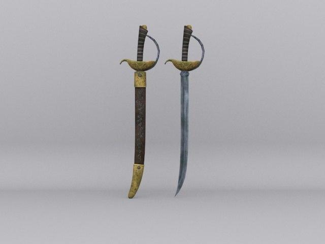 pirate sword pack 3D model