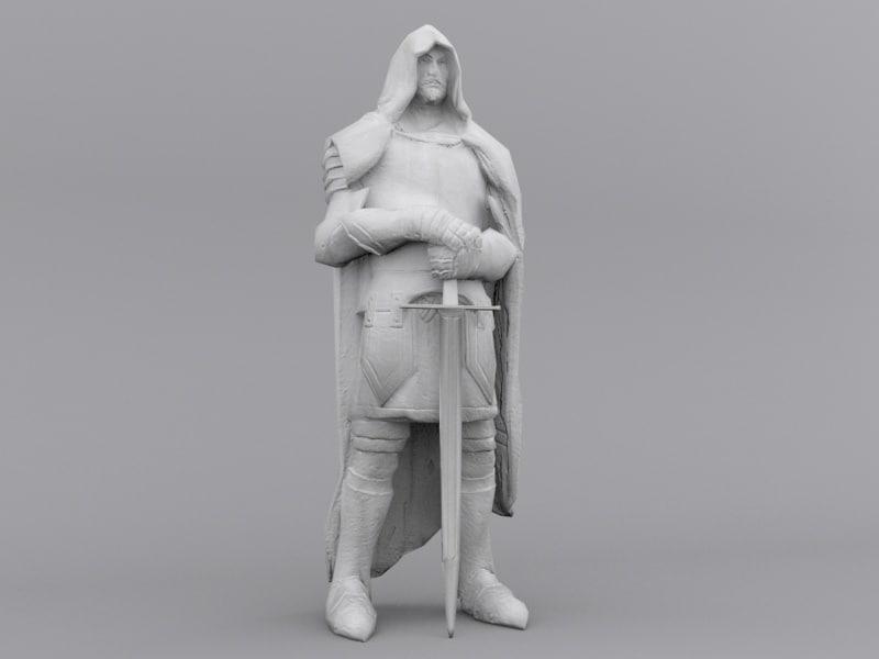 warrior statue 3D model