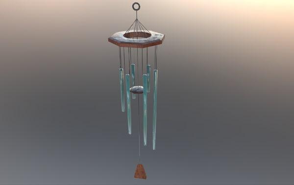 wind bell 3D model