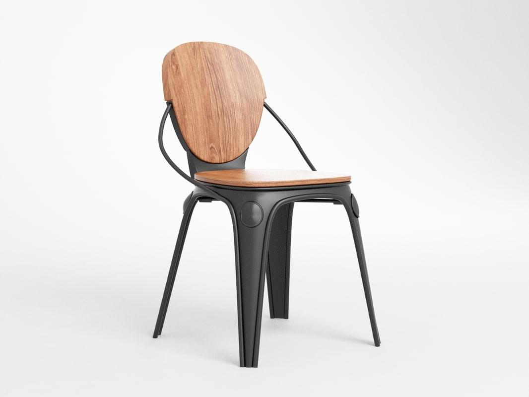 3D louix chair
