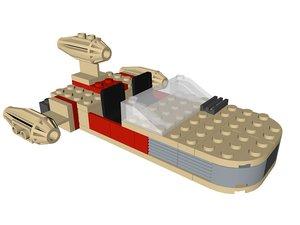 3D model lego star wars landspeeder