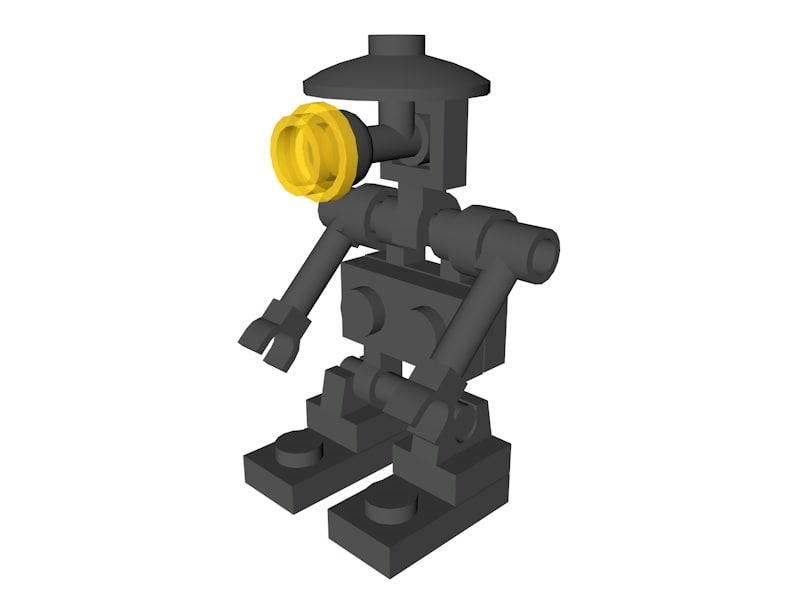 3D lego star wars pit model